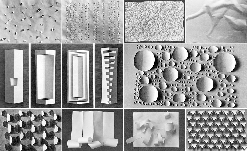 some possible ways to transform a sheet of paper