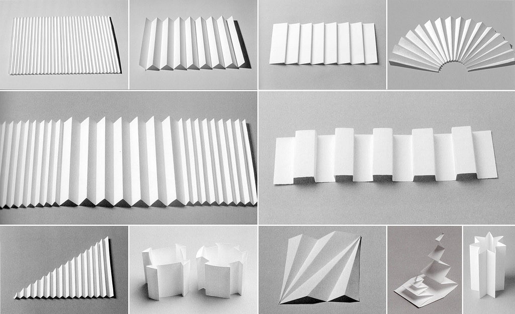 all the possible ways to fold a sheet of paper